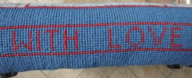 Detail from Jane Cameron's kneeler