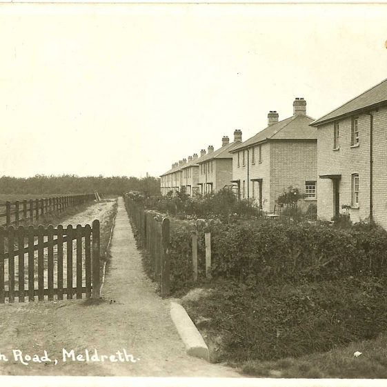Council houses in Kneesworth Road (now West Way), 1920s | Bell's postcard supplied by Ann Handscombe