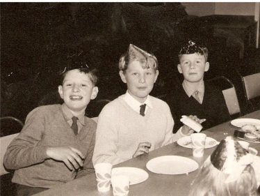 From left to right, Peter Robinson,  Richard Koszykowski (known as Bish) and John Isles pictured at an Eternit children's party on 5 January 1967 | Photograph courtesy of Richard Koszykowski