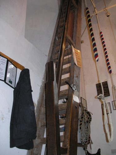 The ladder in Holy Trinity Church ringing chamber | Photograph by Tim Gane