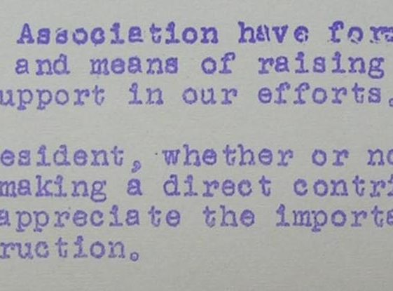 An extract from Mr Harding's letter, July 1964 | Photograph courtesy of Meldreth Primary School