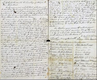 Letter from the citizens of Meldreth | England and Wales, Crime, Prisons and Punishment, 1770-1935; accessed on FindMyPast