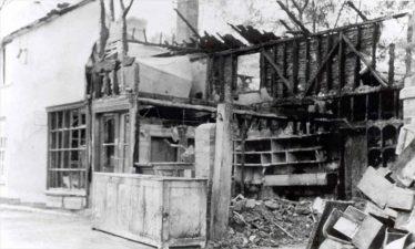 Leverington's shop, following the fire