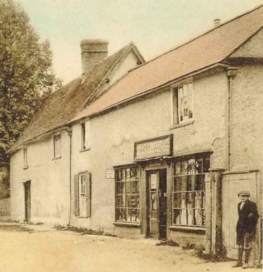 The shop pictured in the 1930s