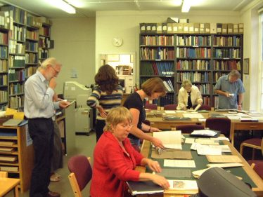 The Meldreth Local History Group on their First Visit to the Cambridge Record Office on July 25th 2007 | Angus Bell
