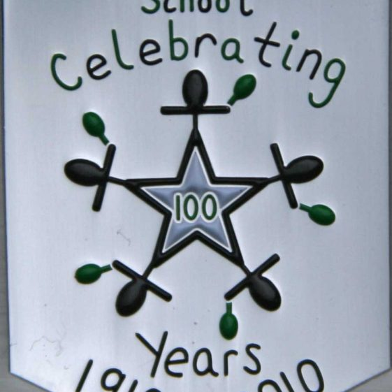 The centenary badge designed by Georgia Henry | Photograph by Malcolm Woods