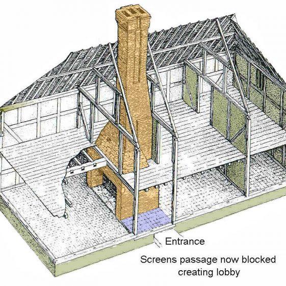 Internal view of brick chimney | Alan Williams