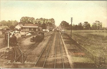 Melbourn Station and Goods Yard ~1935. An unusually titled postcard but presumably aimed for sale in Melbourn