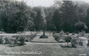 The Gardens at Meldreth Court ~1930 | Bells Postcard