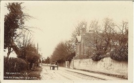 Meldreth Court, High Street, in 1905 - JG Mortlock would have travelled along this road on his way back from the railway station | Robert H Clark postcard