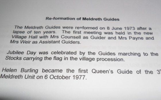 Meldreth Guides re-formation 1977 | Meldreth W.I.
