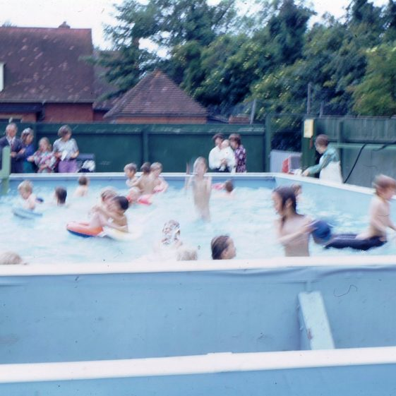 The school pool in use, July 1972 | Photograph supplied by Iris Howell