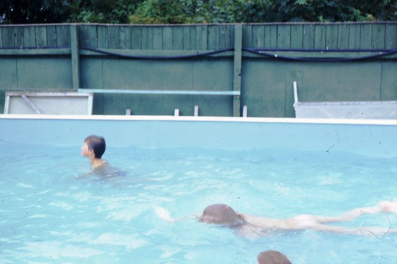 The school swimming pool, July 1972   Photograph supplied by Iris Howell
