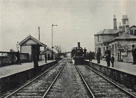 Meldreth Station c.1880 - possibly the oldest known photograph of the station | The Railway Magazine, September 1952