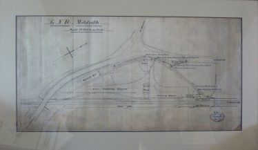 Map of Meldreth Station showing coprolite mill 1893 | 1893  The original track plan is hanging in the house of Roy Cooper, Melbourn
