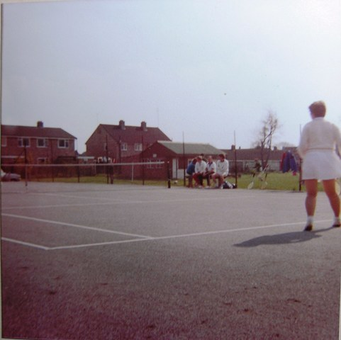 Meldretth Tennis Courts with Tennis Club players | Meldreth W.I.