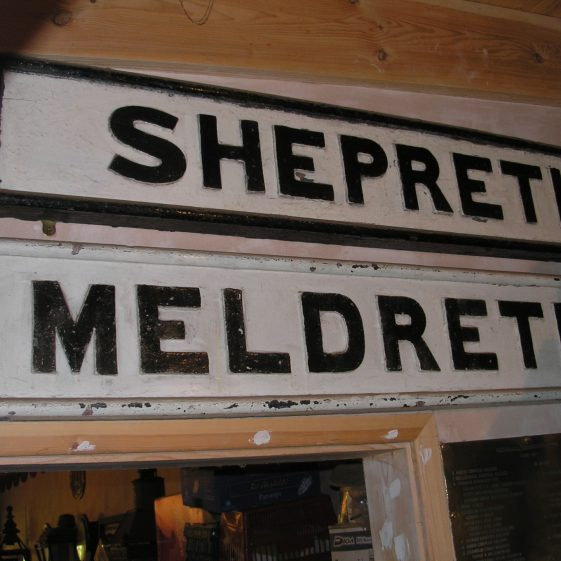 Old Meldreth and Shepreth Station Signs | Photo by Tim Gane courtesy of Mike Sharman