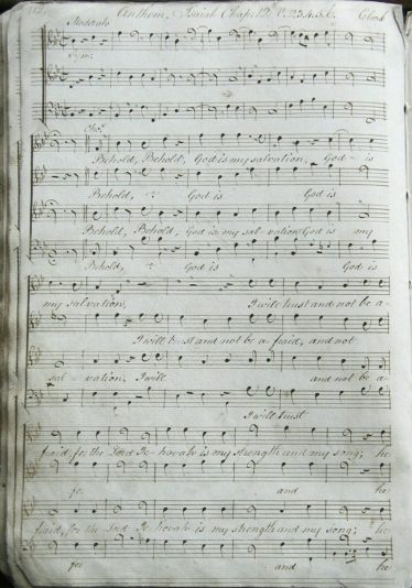 An example of one of the handwritten passages of music and verse in the Meldreth Psalm Book | Linda Collins