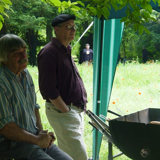 The Barbecue in the woods at the music and poetry evening | Tim Gane