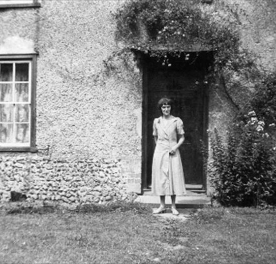 Mrs Sheldrick outside Flambards Mill Cottage, prior to its demolition, c. 1930 | Photograph supplied by Enid Martin