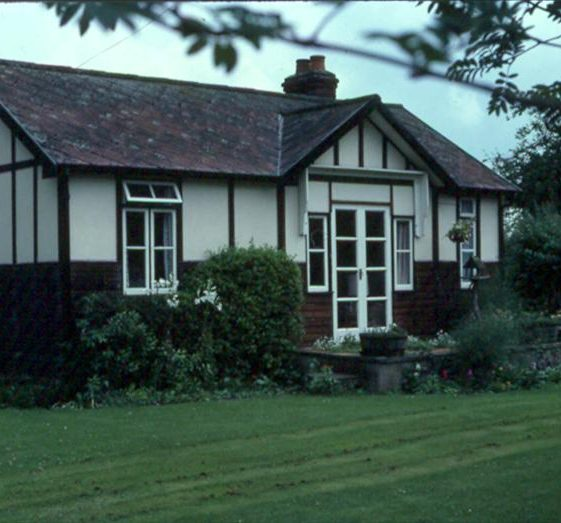 Bungalow at the corner of Malton Lane and North End, once the home of Mr & Mrs C Handscombe, photographed in July 1982.  The bungalow was dismantled for redevelopment in 1987 | Photograph supplied by Ann Handscombe