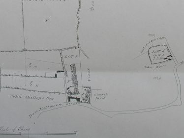 Map showing the positions of Lots 1 and 5 | Cambridgeshire Archives