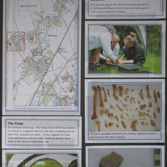 The exhibition poster for Test Pit 3   Produced by Kathryn Betts