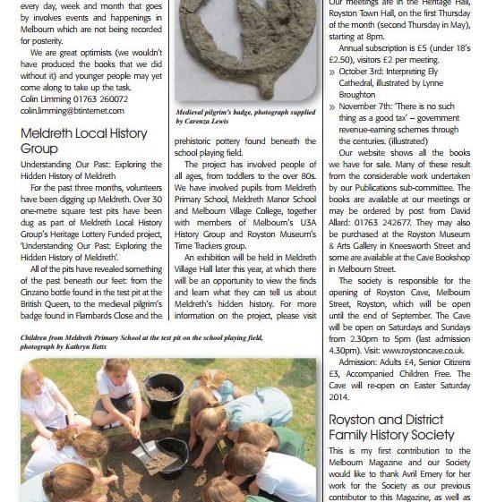 Melbourn Magazine | September 2013