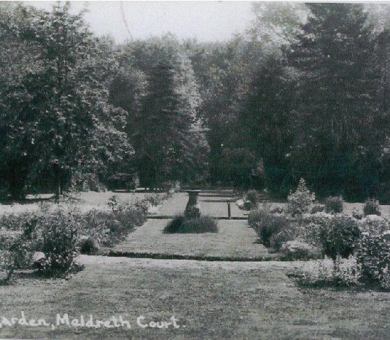Meldreth Court Garden, 1920s | Bells Postcard