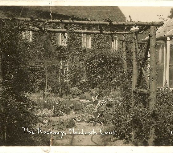 The Rockery at Meldreth Court, 1920s | Bells Postcard