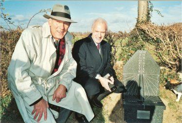 Christopher Van-Essen and John Rogger at Meridian Marker   Tim Gane