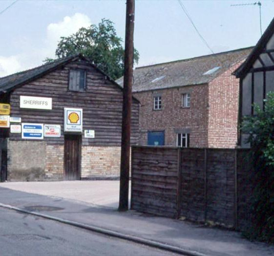 Light industrial units at The Mill (The Maltings), High Street, Meldreth.  1982 | Photo supplied by Ann Handscombe