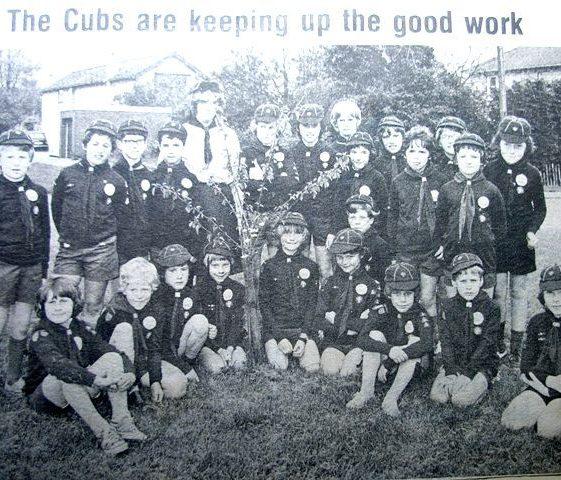 Newspaper cutting of Meldreth Cubs tree planting | Meldreth W.I.