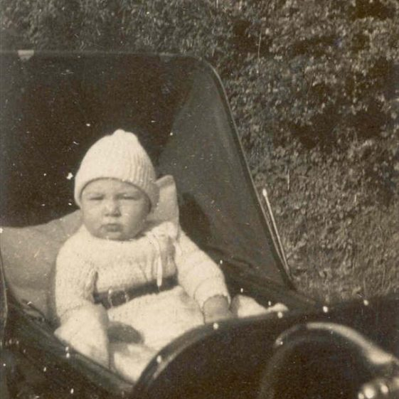Raymond Course in his pram at Northfield House, 1924 | Photograph supplied by Raymond Course