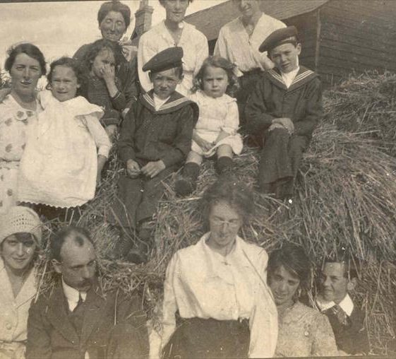 Members of the Course family pictured at Northfield Farm, 1920s | Photograph supplied by Raymond Course
