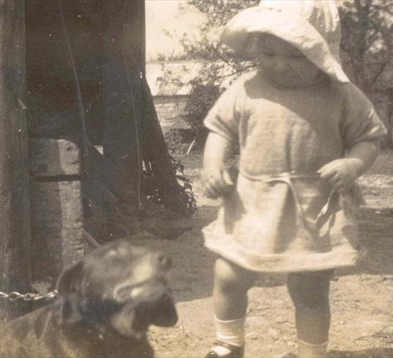 Joan Course pictured at Northfield Farm, c. 1927 | Photograph supplied by Raymond Course