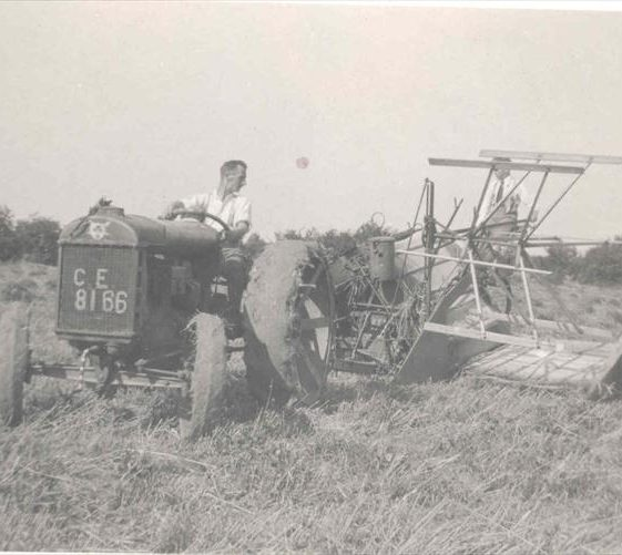 Frank Course on a tractor at Northfield House, c. 1932 | Photograph supplied by Raymond Course