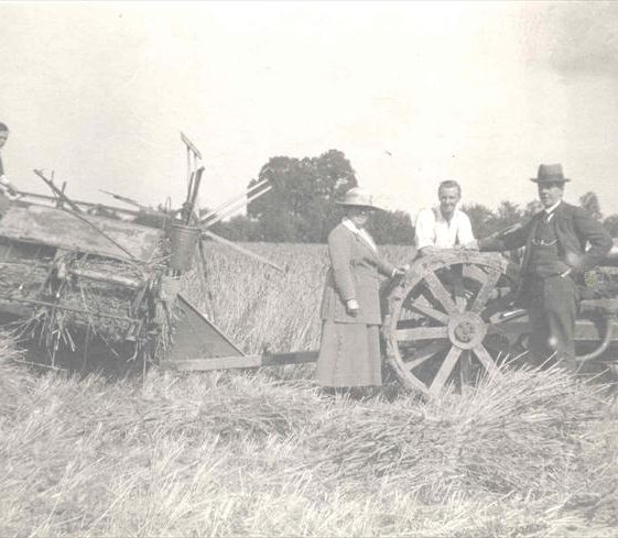 Raymond Course on the tractor at Northfield Farm, c. 1923 | Photograph supplied by Raymond Course
