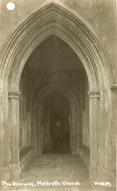 <b>North End: Holy Trinity Church Porch</b> | Bell's Postcard, 1920s
