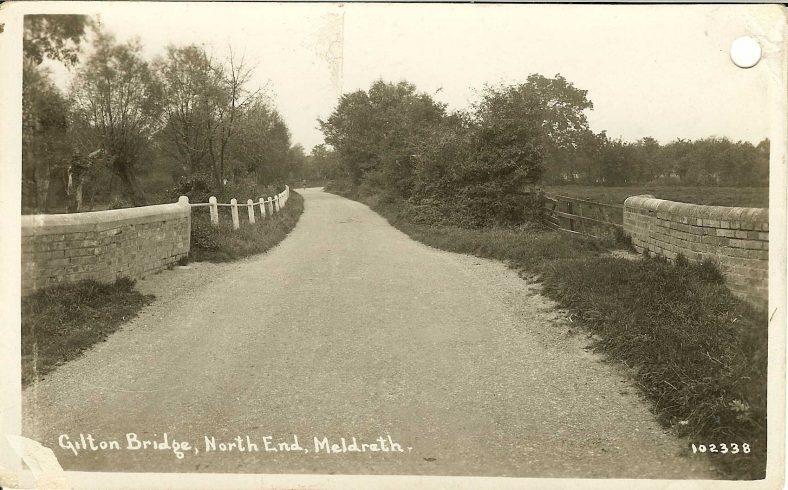 102338 Gilton [Gilden] Bridge, North End, Meldreth | Bell's postcard supplied by Ann Handscombe
