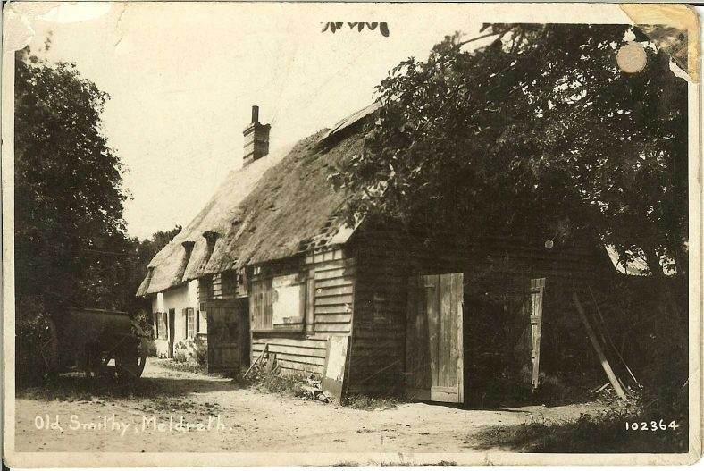102364 Old Smithy, Meldreth North End | Bell's postcard supplied by Ann Handscombe