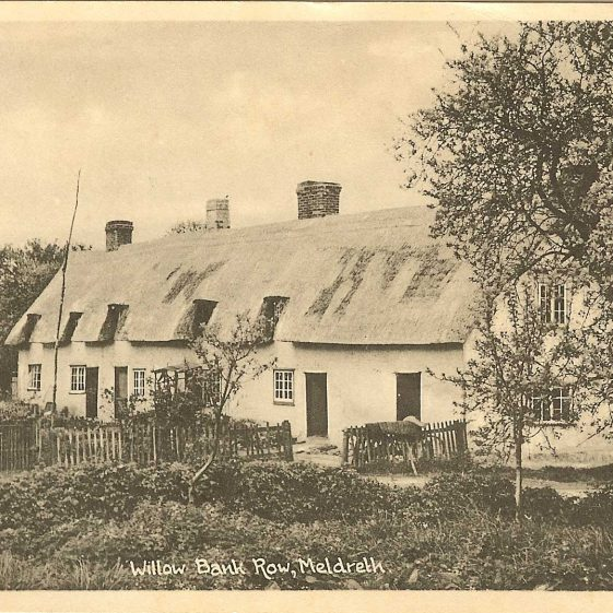 Willow Bank Row also known as Willow Way Cottages, c. 1910 | Postcard supplied by Kathryn Betts