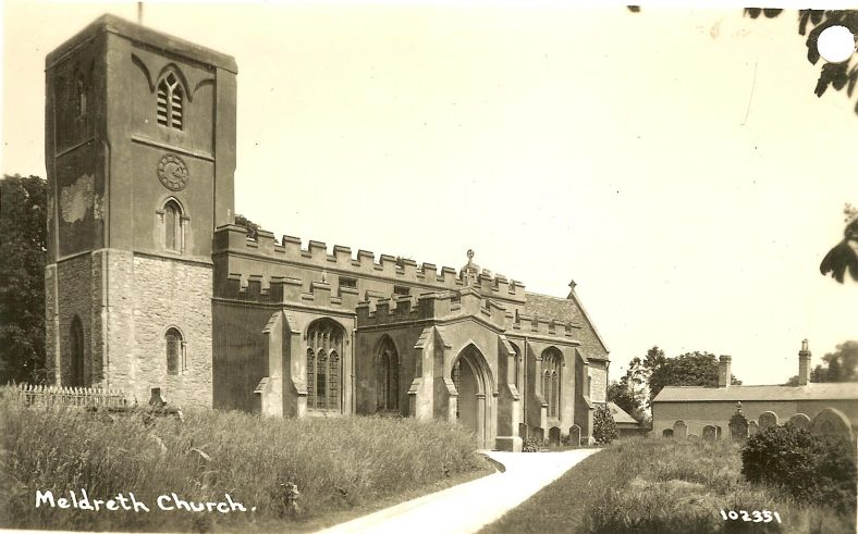 102351 Meldreth Church | Bell's postcard supplied by Ann Handscombe
