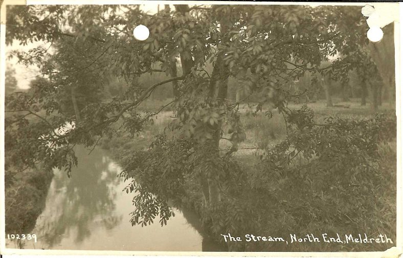 102339 The Stream, North End, Meldreth | Bell's postcard supplied by Ann Handscombe
