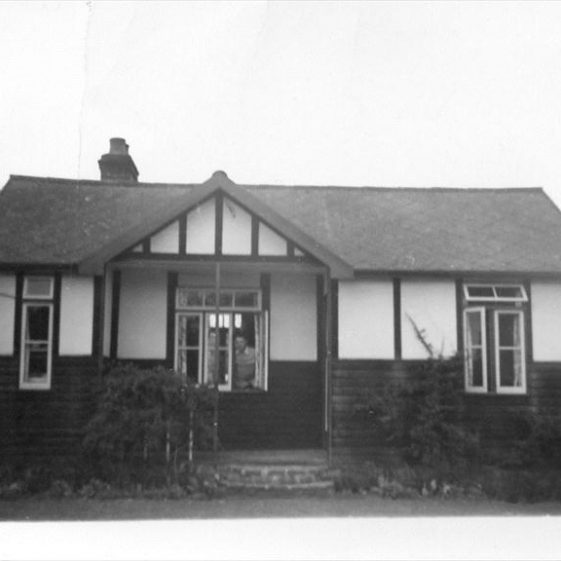 Bungalow known as 'Dingle Dell', purchased from Bill East by Mr. Cecil Handscombe approx. 1939. The photograph dates from 1947 and the cottage was demolished in 1987.. | Photograph supplied by Teddy Handscombe