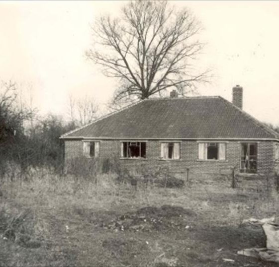 Construction of The Coppice in 1951.  The house was built by Michael and John Walford for their parents, Ethel and Fred | Photograph supplied by Michael Walford