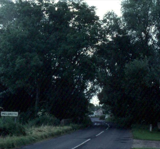 Entrance to the village, from Shepreth.  July 1982 | Photograph supplied by Ann Handscombe