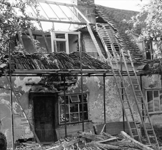 23 North End, during its renovation and conversion from two cottages, 1965 | Photograph supplied by Barbara Houseden