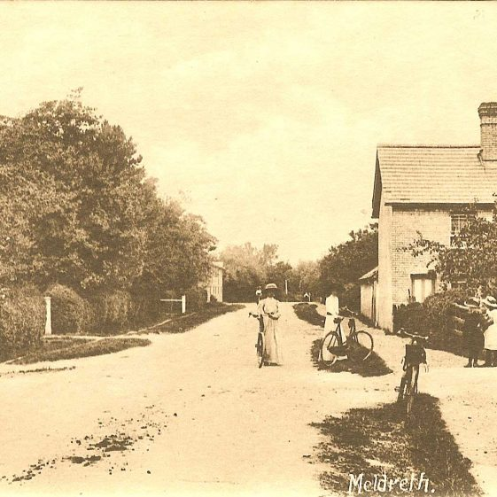 North End, near the junction with Malton Lane (left) and Cam Farm (right) c.1910 | Bell's Postcard supplied by Ann Handscombe