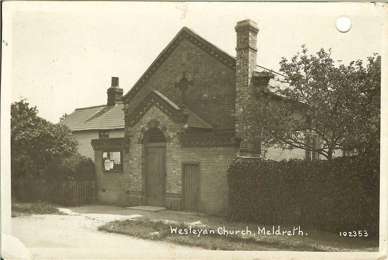 102353 Wesleyan Church, Meldreth [North End] | Bell's postcard supplied by Ann Handscombe